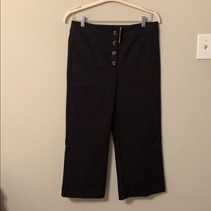 High waisted wide leg ankle pants